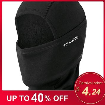 Warm Full Face Mask Windproof Fleece Lining Balaclava Cycling Hood Liner Skiing Snowboarding Shield Helmet Liner