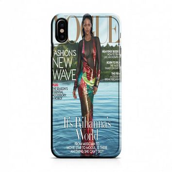 Rihanna (vogue) iPhone X Case