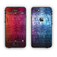 The Vibrant Colored Lined Surface Apple iPhone 6 Plus LifeProof Nuud Case Skin Set