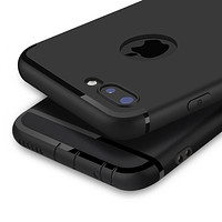Luxury Back Matte Soft Silicon Case for iPhone 6 Cases 6s Plus 5 5s 5SE Full Cover iPhone 7 Case Plus Phone Cases