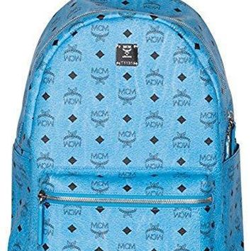 Mcm Blue Medium Leather Stark Side Studded Visetos Backpack Bag