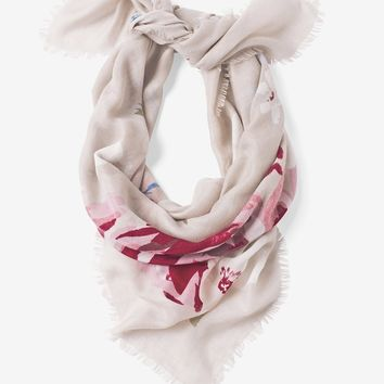 White House Black Market Floral Square Scarf