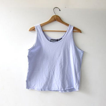 vintage lilac purple tank top. cropped tank top. boxy tank. loose fit.