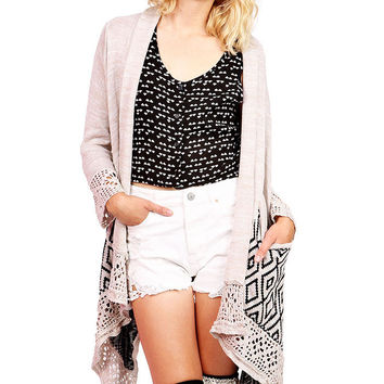 Diamond Islet Knit Cardigan