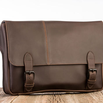 Journeyman Commuter Leather Messenger Bag