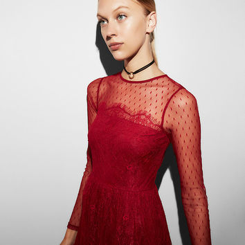 Delicate Lace Fit And Flare Dress