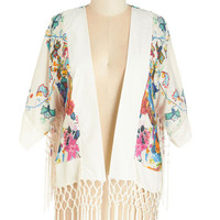 Boho Long Short Sleeves Garden Mornings Jacket