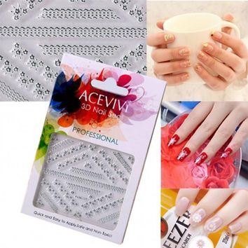 New Fashion Women's Professional 3D Nail Art Care Fingernail Wraps Stickers
