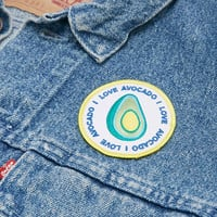 Jess Warby Badges Green Avocado Iron-On Patch - Urban Outfitters