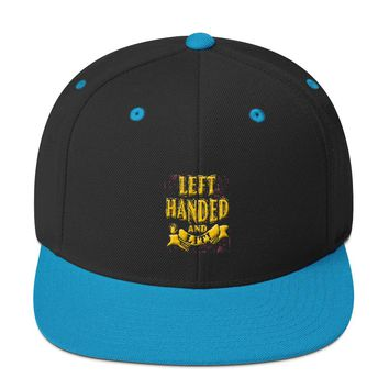 Left handed and Lit! Snapback Hat