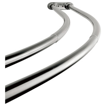 Kingston Brass Edenscape CCD2171 Adjustable (60-72) Double Curved Stainless Steel Shower Curtain Rod, Polished Chrome - Polished Chrome
