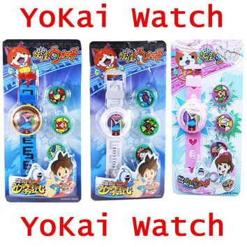 Anime Yo-Kai Watch little poni toys YoKai watch for children projection watch student Christmas gift baymax kid projection toy