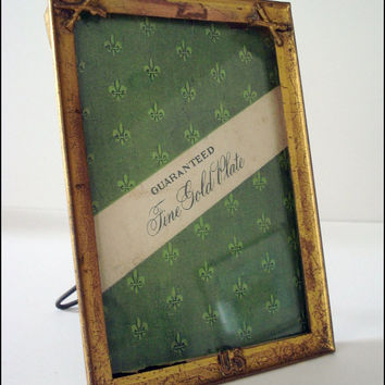 Metal Military Photo Frame - WWI Era - Antique Picture Frame - Easel Back