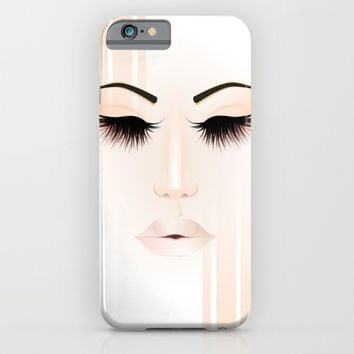 Rose Gold Girl iPhone & iPod Case by Justhappiling