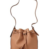 Women's Faux-Leather Tasseled Bucket Bags