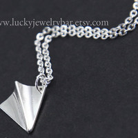 Paper Airplane Necklace, One Direction, Harry Styles Airplane, Paper Airplane Pendant