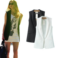 Summer Star Unisex Simple Design Blazer Sleeveless Vest Jacket [4919469380]