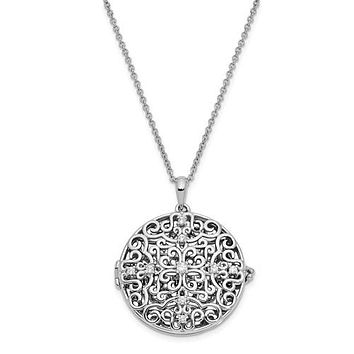 Sterling Silver CZ Do Not Let Anyone Dull Your Sparkle Necklace
