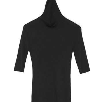 High Collar Merino Wool Knit Shirt
