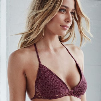 Beauty and the Beach Dreamy Crochet Halter Bikini Top at PacSun.com