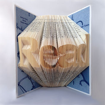 Book Art Folding - Read - Holiday Gift - Anniversary Gift - Book Sculpture - Folded Book Art - Home Decor - Origami - Unique Gift - Wedding