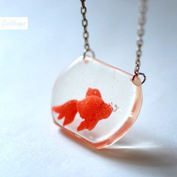 Portable Goldfish Tank Clear Transparent Pendant by Goodthings88