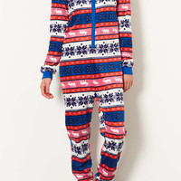 Aztec Fleece Onesuit - Topshop USA