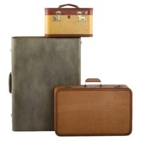 One Kings Lane - Michelle Nussbaumer - Vintage Travel Cases I, Set of 3