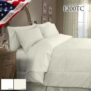 SUPREME SATEEN 1200 SOLID COMFORTER SET IN DIFFERENT SIZES AND COLORS