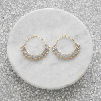 Wool & Moon - Silver Sand Creole Earrings