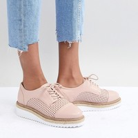 Carvela Eva Rope Lace Up Flat Shoe at asos.com
