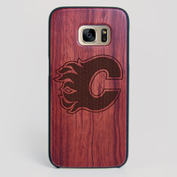Calgary Flames Galaxy S7 Edge Case - All Wood Everything