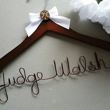 Personalized Female Judge Hanger, Makes a great gift to Hang her Robe on