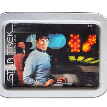 Vintage 70s Star Trek the Motion Picture Lunch/Dinner Tray | 1979 Collector's Item, Metal, Collectible, Fan Gift Trekkie, Spock