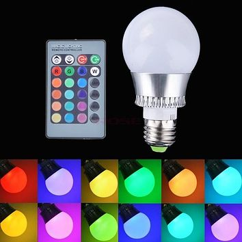 New E27 10W RGB LED Light Color Changing Lamp Bulb 85-265V With Remote Control Light SV007901_2|26601 = 1745332100