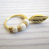Gold Tragus Earring - Gold Tragus Hoop - Traugs Ring - Tragus Pierceing - Tragus Jewelry - Gold Nose Ring - Gold Nose Hoop