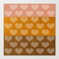 Patina Hearts Rose Gold Canvas Print by Beautiful Homes