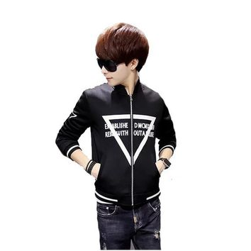 Men 's baseball suits adolescent Korean Slim coat sweater