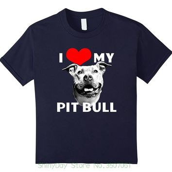 I Love (Heart) My Pitbull - Dog Lovers T-shirt