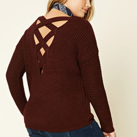 Plus Size Cutout-Back Sweater