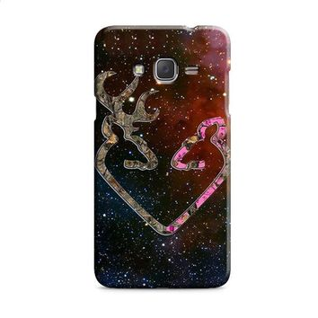 BROWNING STYLE HEART BUCK DOE DEER STICKER DECAL DUCK HUNTING Samsung Galaxy J7 2015 | J7 2016 | J7 2017 Case
