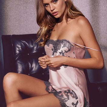 Lace Applique Satin Slip - Very Sexy - Victoria's Secret