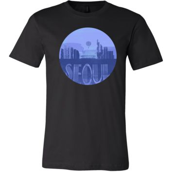 Seoul Skyline Horizon Sunset Love South Korea Gift Shirt