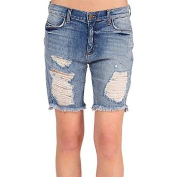 Women's Slouchy Kate Boyfriend Levi's Distressed Long Shorts Mid Rise