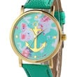 Teal Nautical Anchor Floral Watch