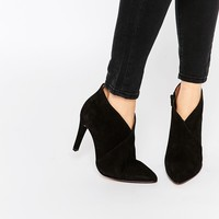 Selected Femme Alexandra Suede Heeled Ankle Boots