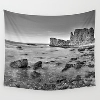 """Submarine Reef"". Sunset at the beach Wall Tapestry by Guido Montañés"