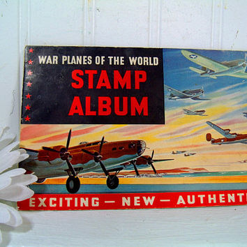 The Best Foods War Planes Of The World Stamp Album - Collectible ©1943 World War ll Stamp Album Booklet Complete with 32 Placed Plane Stamps