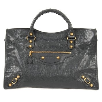 Giant 12 Gold City Leather Bag   Fossil Gray with Gold Hardware  Medium