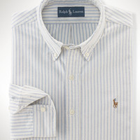 Slim-Fit Striped Oxford